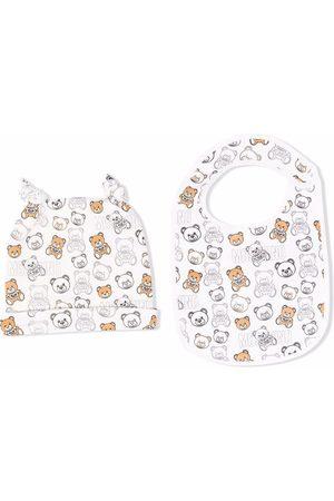 Moschino Teddy bear-print hat set