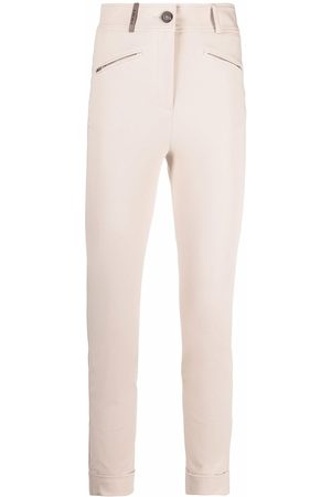 Peserico High-rise cropped skinny trousers - Neutrals
