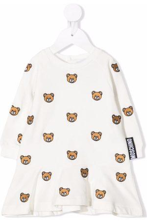 Moschino Kids Embroidered Teddy sweatshirt dress