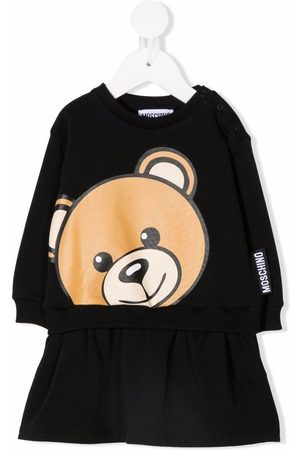 Moschino Kids Teddy bear-print sweatshirt dress