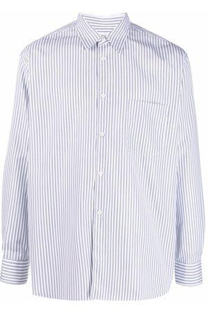 Comme Des Garçons Shirt Oversized vertical-stripe shirt