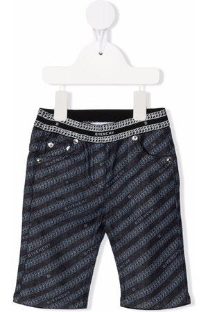 Givenchy Kids Logo-print slim-cut trousers