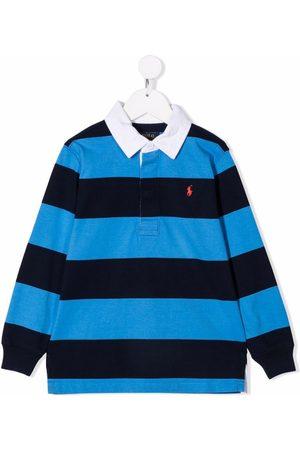 Ralph Lauren Kids Embroidered.logo long-sleeve polo shirt