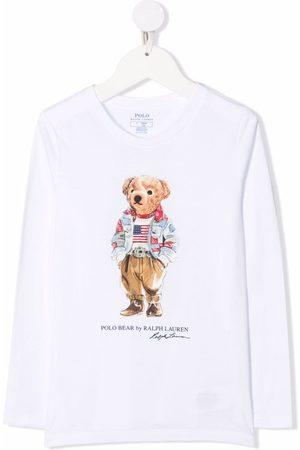 Ralph Lauren Kids Polo Bear-motif cotton T-Shirt