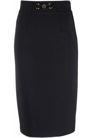 Elisabetta Franchi Belted midi pencil skirt