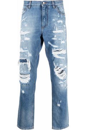 Dolce & Gabbana Men Straight - Distressed straight-leg jeans