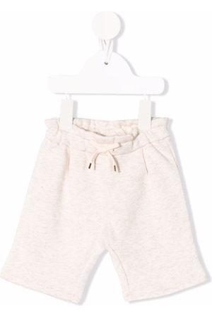 Chloé Kids Drawstring straight leg shorts - Neutrals