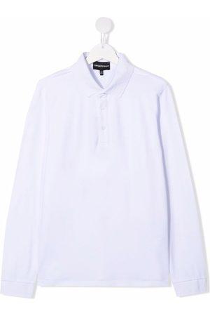 Emporio Armani Kids TEEN long-sleeved polo shirt