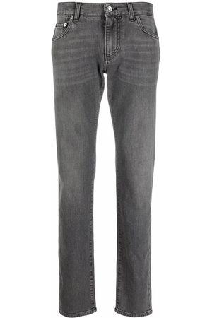 Dolce & Gabbana Mid-rise straight leg jeans - Grey