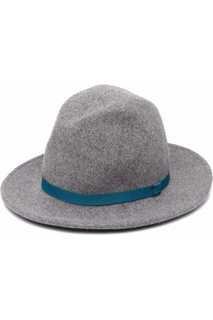 PAUL SMITH Grograin-band hat - Grey