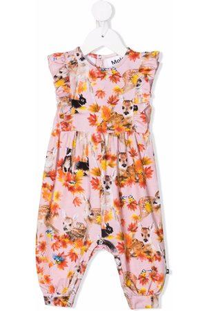 Molo Floral-print sleeveless romper