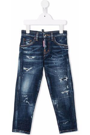 Dsquared2 Kids Distressed slim-cut jeans