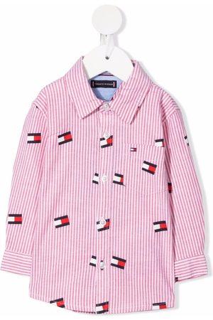 Tommy Hilfiger Junior All-over logo print shirt
