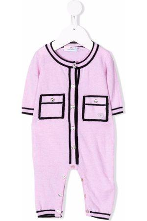 Chiara Ferragni Kids Knitted two-tone romper