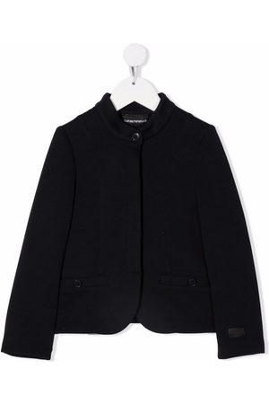 Emporio Armani Kids Band-collar jacket
