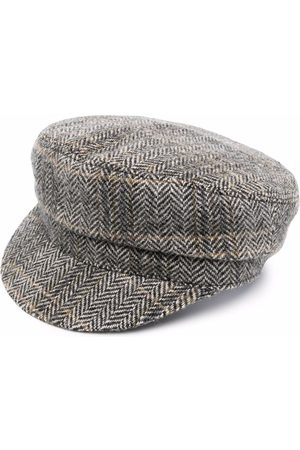 Isabel Marant Chevron-knit paperboy hat - Neutrals