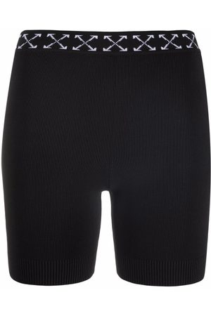 OFF-WHITE Women Shorts - Arrows motif knitted shorts
