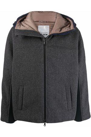Valentino Men Puffer Jackets - Multi-panel padded jacket - Grey