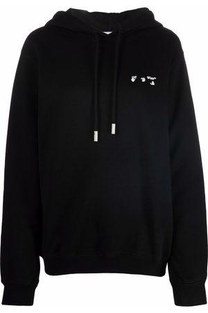 Off-White Women Hoodies - Hands Off logo hoodie