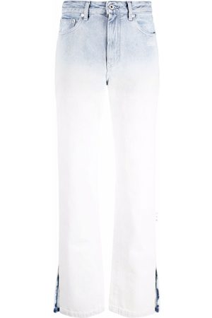 OFF-WHITE High-rise ombré-effect jeans
