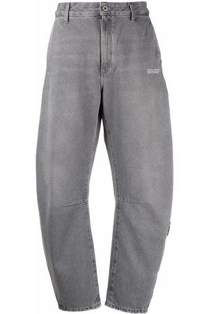 Off-White Logo-print banana-cut jeans - Grey
