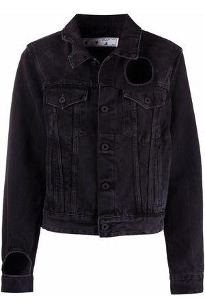 Off-White Women Denim Jackets - Meteor cut-out denim jacket