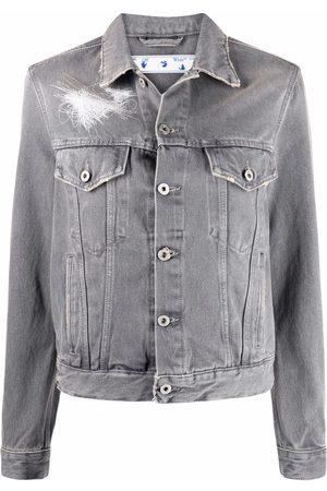 Off-White Women Denim Jackets - Arrows motif denim jacket - Grey