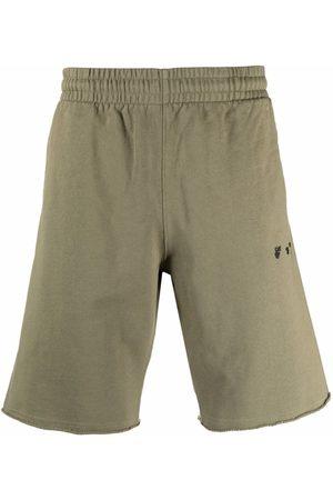 OFF-WHITE Men Sports Shorts - Logo-print track shorts