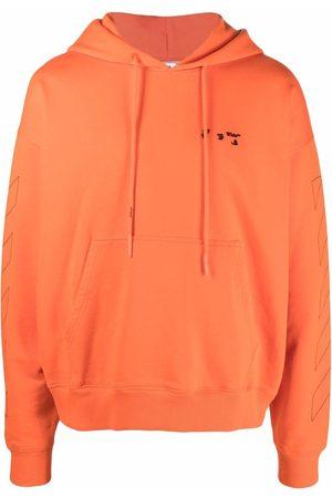 Off-White Men Hoodies - Logo-detail Diag-stripe hoodie