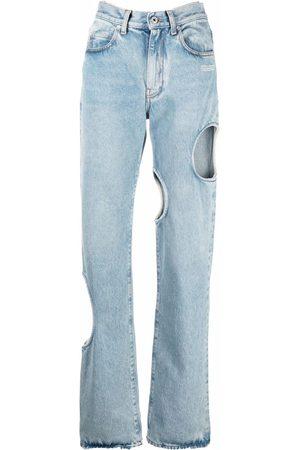 Off-White Women Boyfriend Jeans - Meteor baggy denim jeans