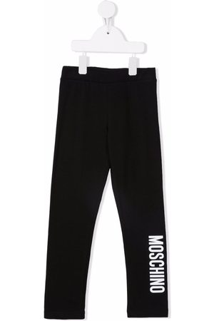 Moschino Kids Boys Sweatpants - Logo-print stretch-cotton joggers