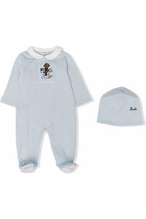 Fendi Kids Pajamas - Bear-print pajamas