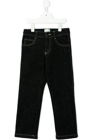 Fendi Kids Logo-print straight-leg jeans