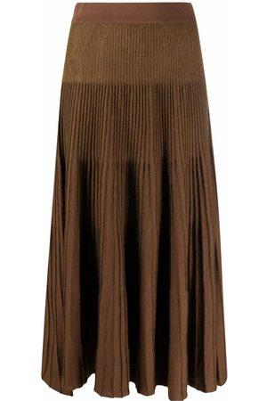 MM6 Maison Margiela Pleated fine-knit skirt