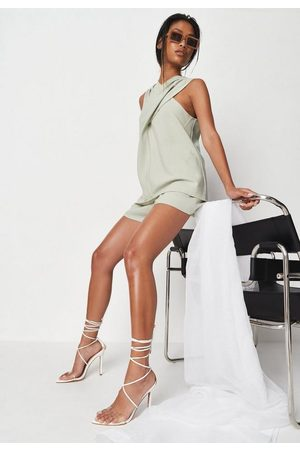 Missguided Sage Co Ord Drape Wrap Top