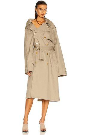 Balenciaga Women Trench Coats - Off Shoulder Trench in