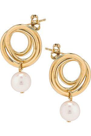 COMPLETEDWORKS Flow Pearl Earrings in Metallic