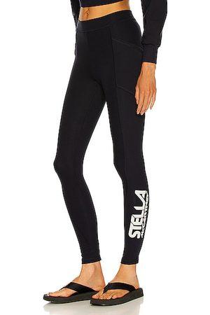 Stella McCartney Scuba Logo Print Trouser in Navy