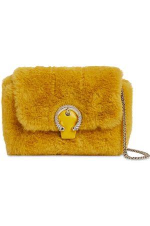 JIMMY CHOO Madeline Faux Fur Bag W/ Crystals