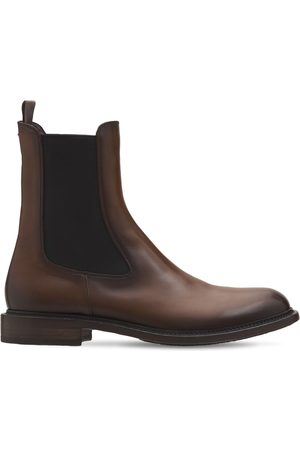 Pantanetti 30mm Leather Chelsea Boots