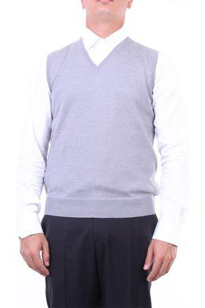 Halston Heritage Men Tank Tops - Knitted vest Men Light grey