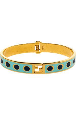 Fendi The sta Bicolor Polka Dot Enamel Gold Tone Bracelet M