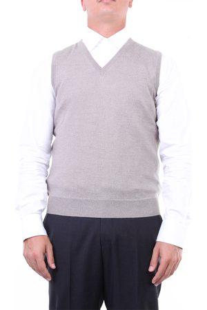 Halston Heritage Men Tank Tops - Knitted vest Men Tortora