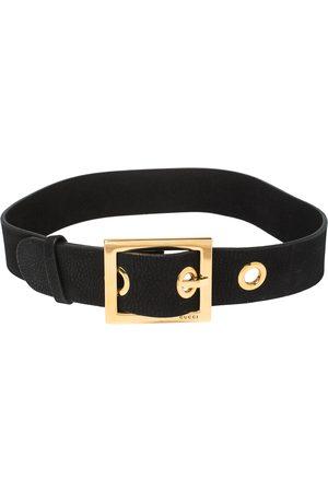 Gucci Women Belts - Leather Square Buckle Waist Belt 80CM