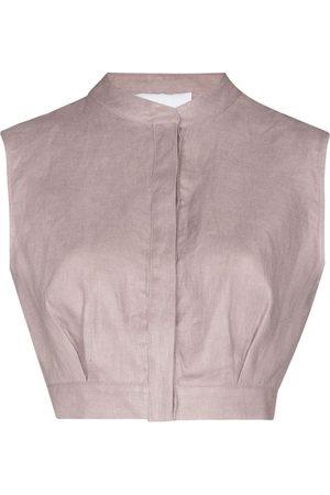 Bondi Born Minorca cropped sleeveless top