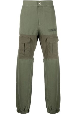 Palm Angels Logo-patch cargo trousers