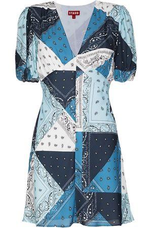 Staud Women Printed Dresses - Milla patchwork-print minidress