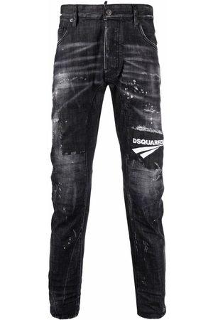 Dsquared2 Men Skinny - Tidy Biker distressed-effect jeans