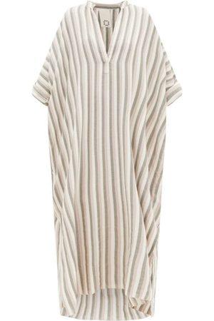 Marrakshi Life Women Beach Dresses - Striped cotton kaftan