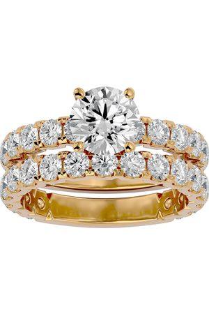 SuperJeweler 3 1/2 Carat Round Diamond Bridal Ring Set in 14K (6 g) (